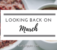 Looking back on March