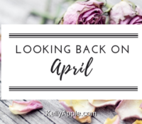 Looking Back on April
